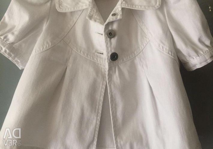 🌺 Jachetă sacou jachetă albă Denim