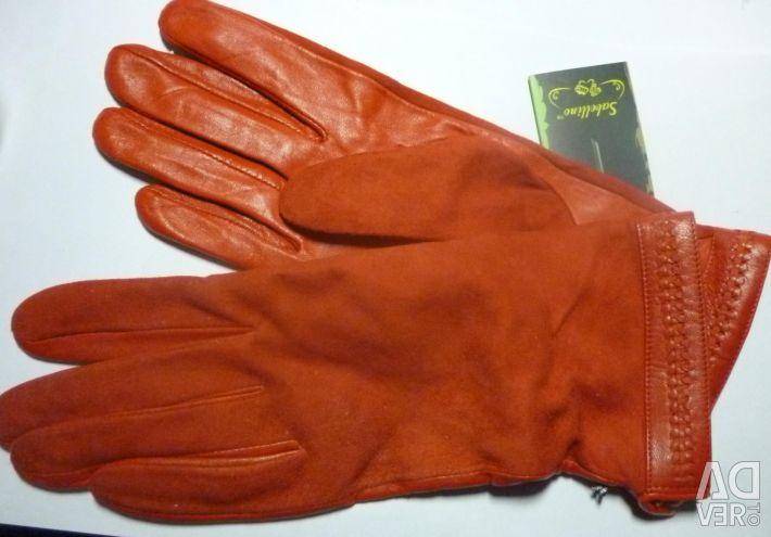 Mănuși Sabellino roșu aprins. Pp 7.5