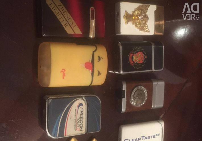 Lot of gas turbo lighters
