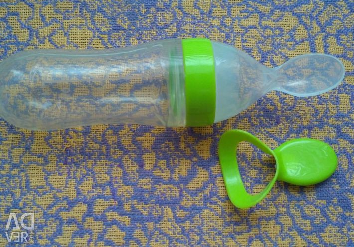 🔤 O sticlă cu lingura de 100 ml
