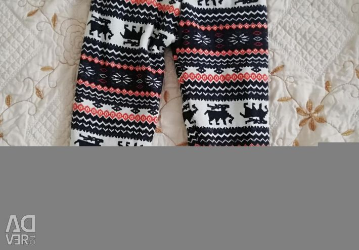 Warm leggings for a girl from about 3 to 5 years