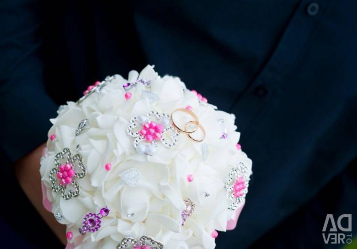 Rose bouquet for the bride
