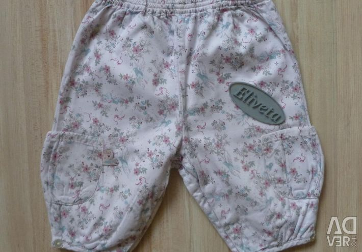 Trousers cotton 64-68 cm. In excellent condition