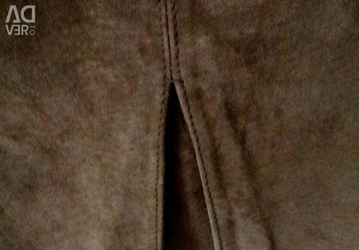 Natural suede mini skirt VERO MODA
