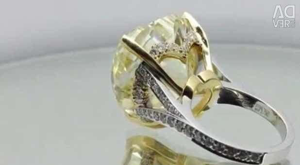 40-каратное кольцо с бриллиантом в форме сердца. GIA