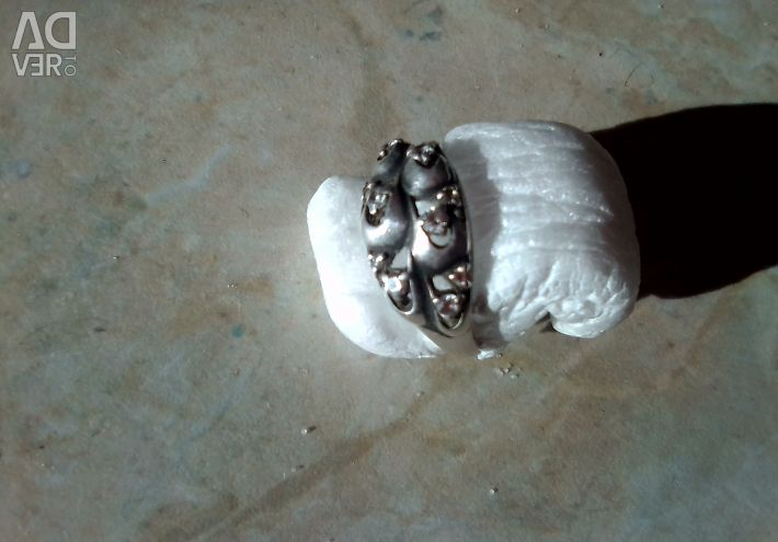 Δαχτυλίδι με κυβικά ζιρκονία, ασήμι 925 δοκιμές