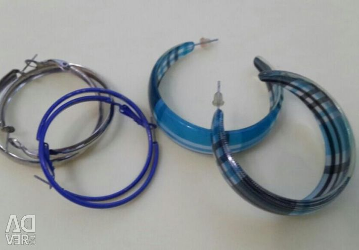 Earrings, chains