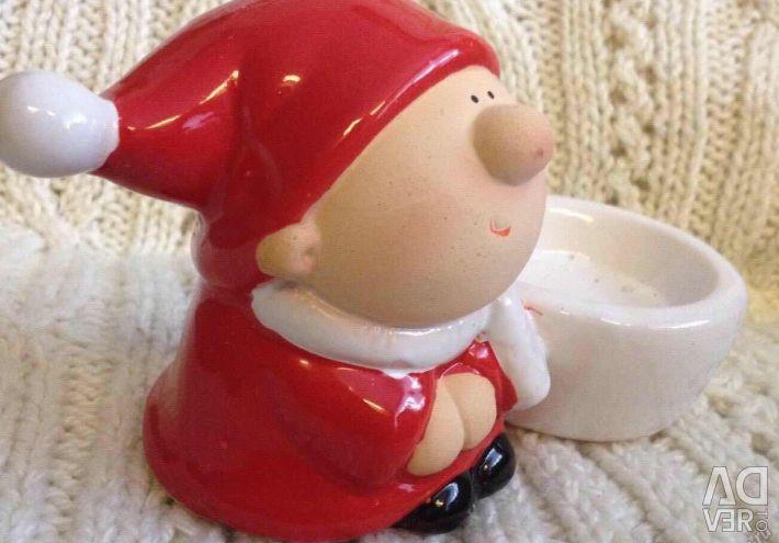 Sfeșnicul Ceramica de Anul Nou