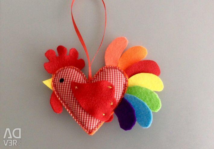Souvenir: Cockerel - heart. New. Exchange.