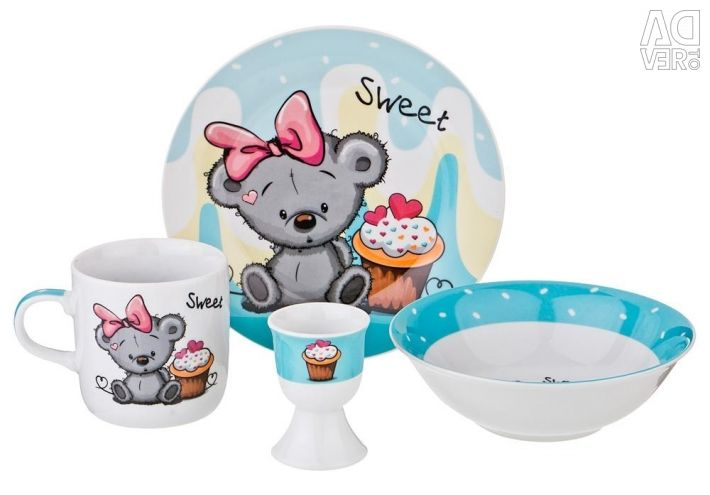 Sets of china for children 4 p. -New