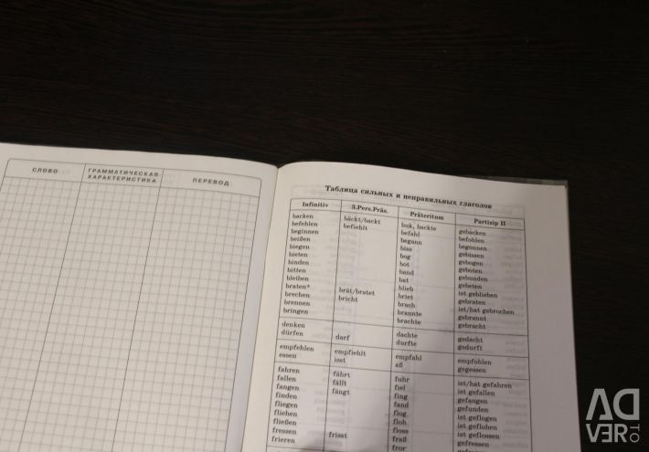 A dictionary-dictionary for writing German words