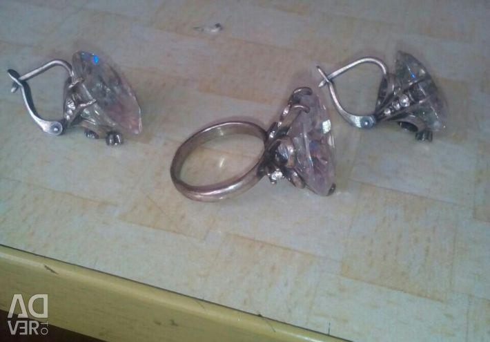 Earrings + ring