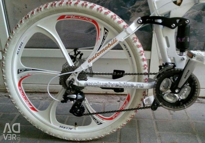 Fashionable Lamborghini bicycle on white cast wheels