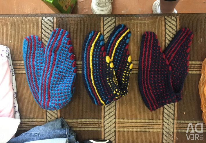 Knitted crocheted