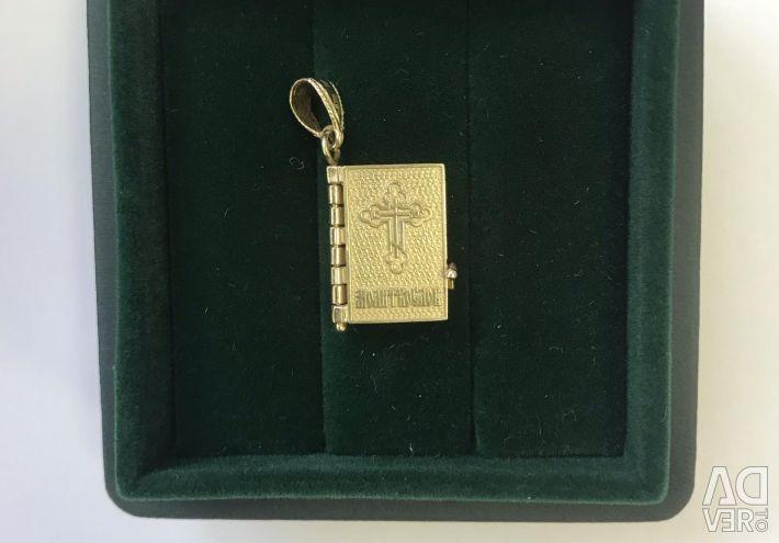 Pendant prayer book Gold