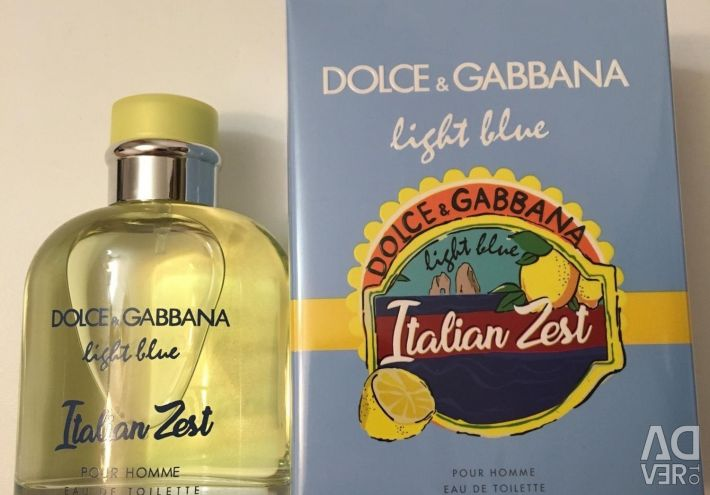 ✅ Dolce Gabbana light blue for Italian Zest