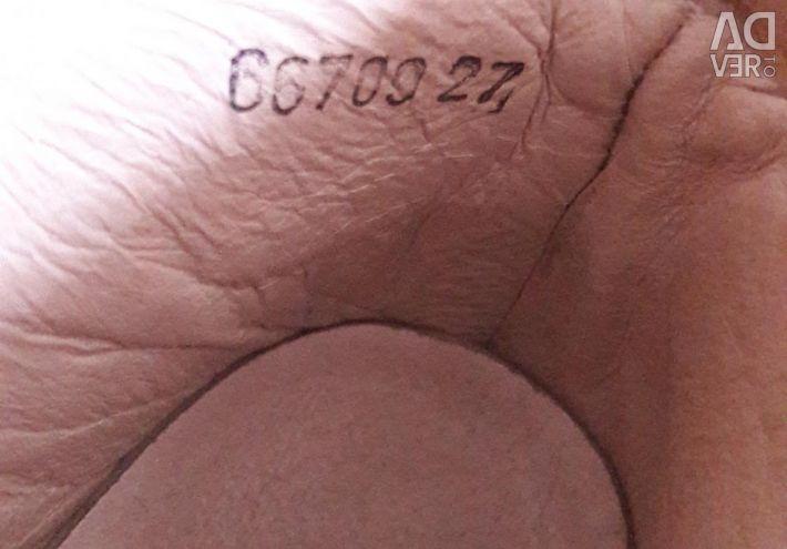 Ορθοπεδικά, δερμάτινα παπούτσια 27 μέγεθος