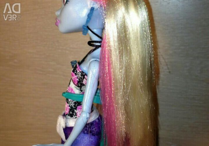 Monster High Abby doll, Skull Coast, used