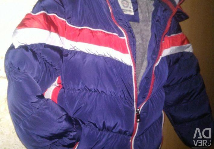 Winter jacket on the boy.
