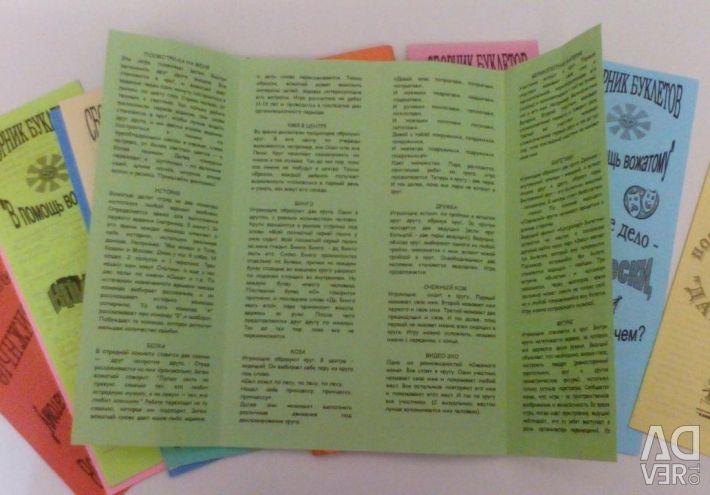 O colecție de broșuri pentru a ajuta liderul