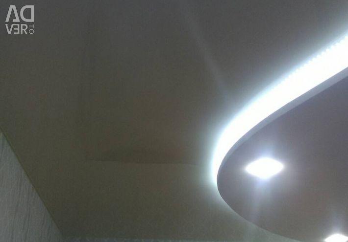 Stretch οροφές και φωτισμός, γρήγορα ποιοτικά