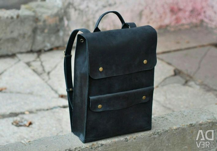 Comfortable practical leather briefcase.