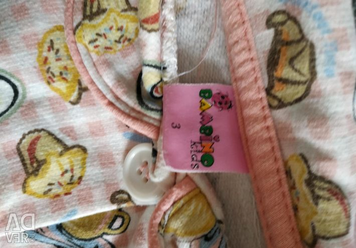 Warm children's pajamas