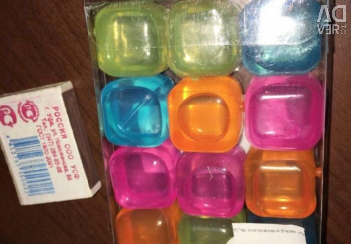 Кубики цветные для льда.охлаждение напитков.