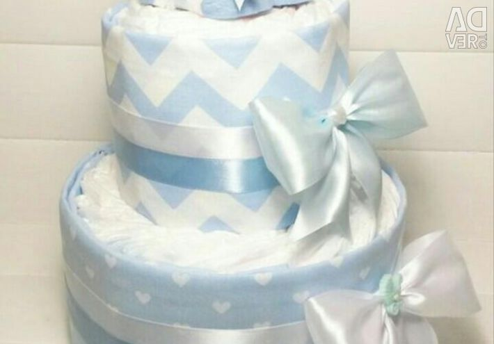 Cake from diapers to order