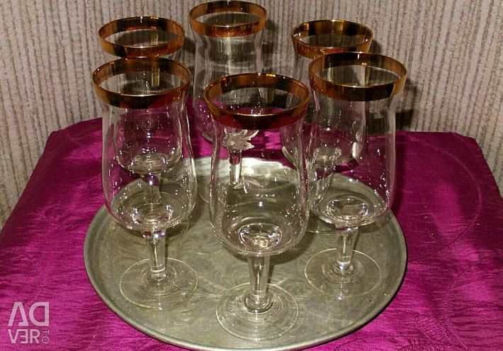 Set of wine glasses, USSR