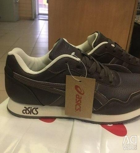 Sneakers asics, natural leather, unisex, new