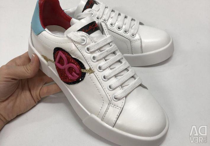 Λευκά Dolce Gabbana πάνινα παπούτσια