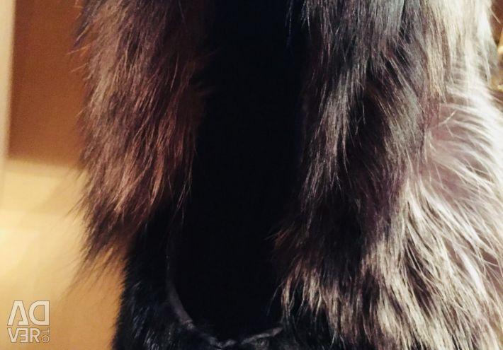 Μανίκι γιλέκο με ασημένια αλεπού