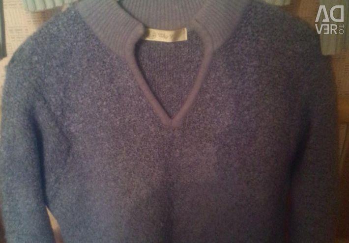 Блакитний джемпер светр
