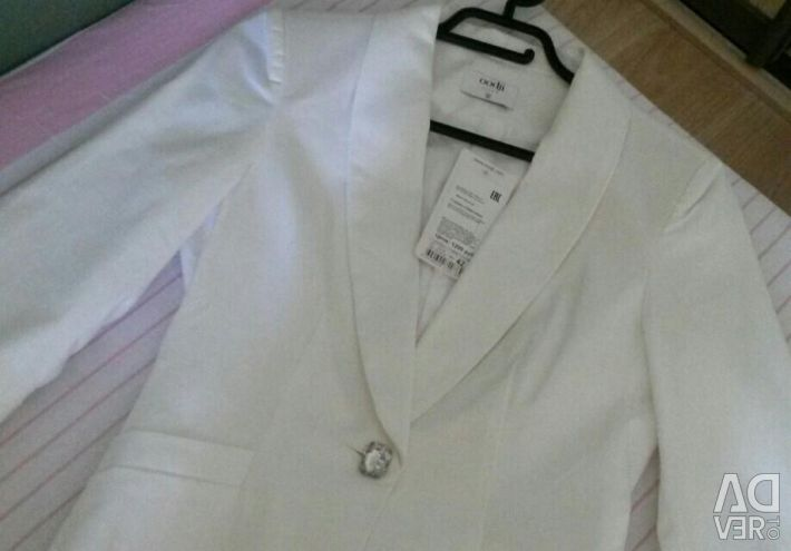 New women's white jacket jacket oodji 42r