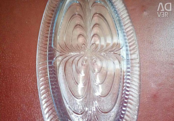 Χρωματιστό γυαλί με ψαροκόκαλο από την ΕΣΣΔ