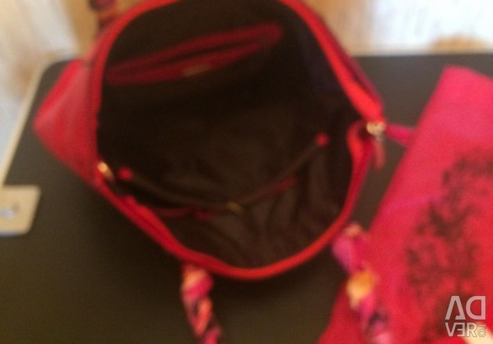 Italy bag red leatherette