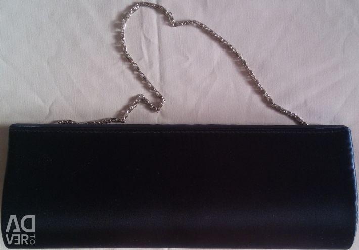 Clutch bag dark blue new