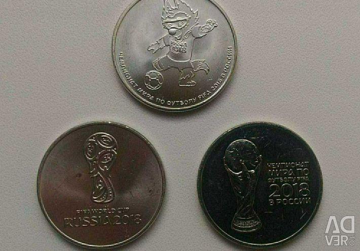 25 de ruble, fotbalul Cupei Mondiale 2018, Jocurile Olimpice din Sochi 2014.