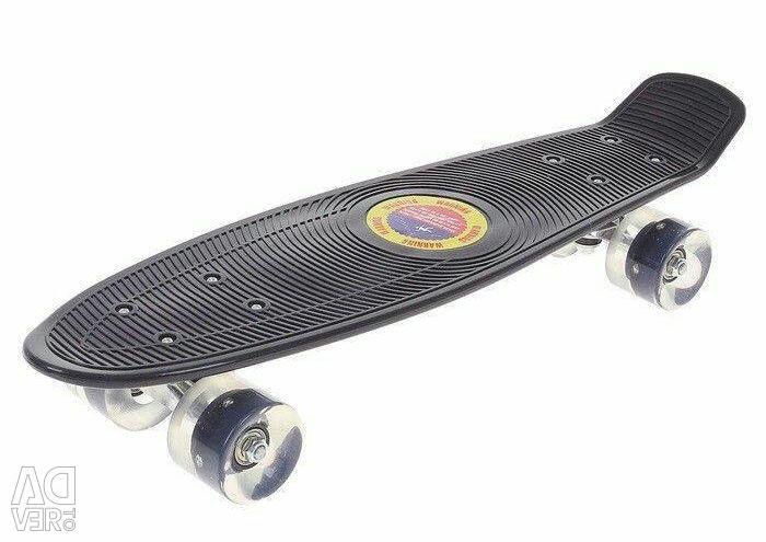 22 inçlik pennyboard, tekerlekler parlıyor