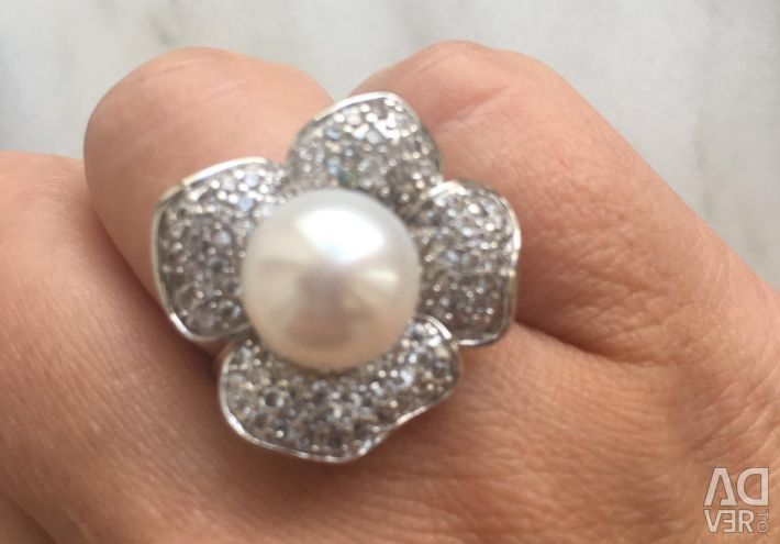 Women's ring with pearls 18 size