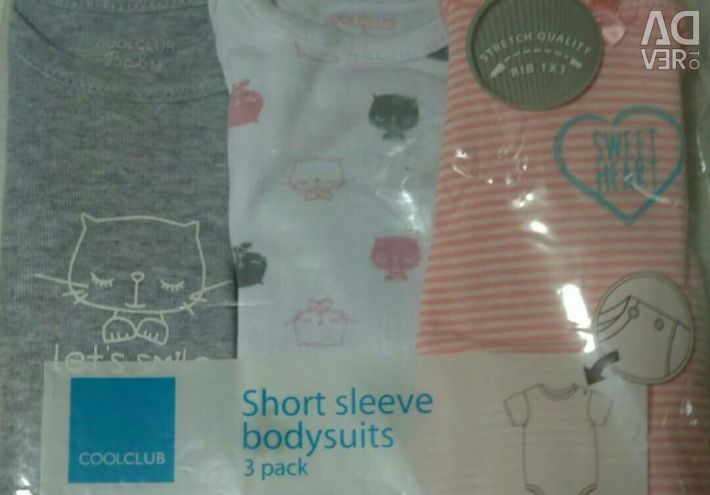 New bodi with long and short sleeves 6pcs