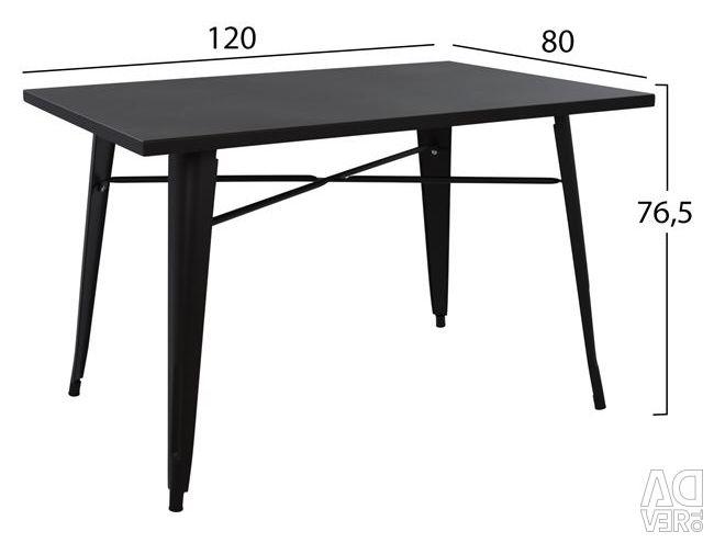 TABLE METAL IN COLOR BLACK MAT HM0609.22 120