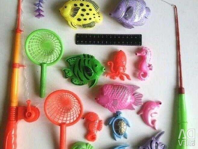 Children's game Fishing 18 items