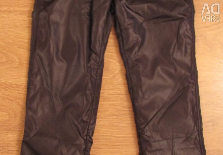 Trousers made of plaschevki on fleece button blue
