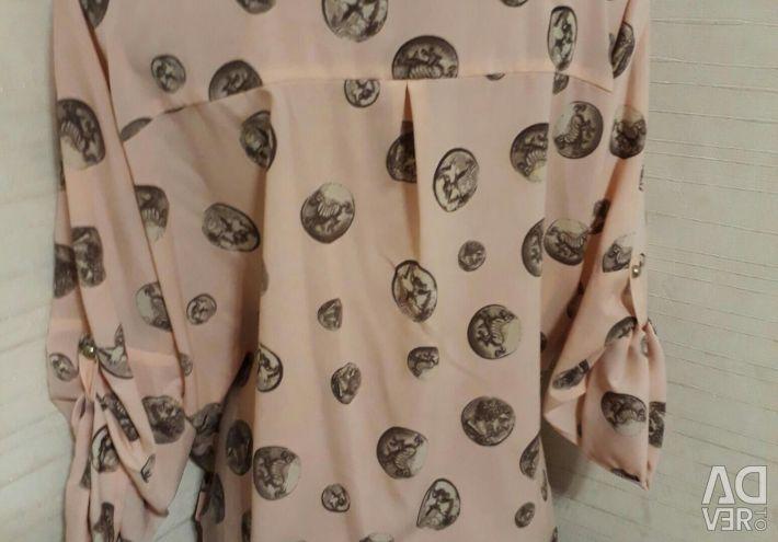 Νέο χαλαρό πουκάμισο 46-48