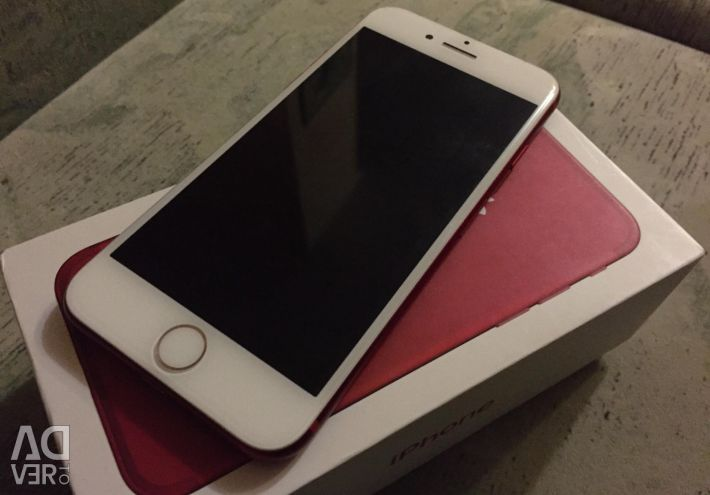 IPhone 7 128gb product red (on the glass chip)