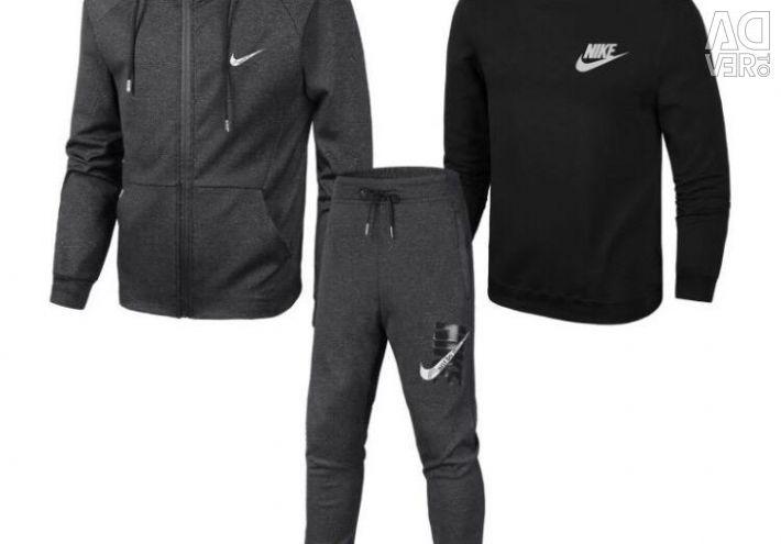 Costum din trei piese Nike gri / negru