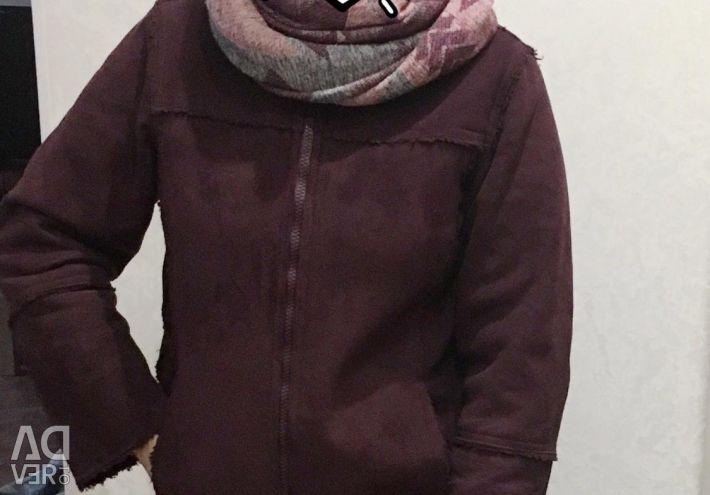 Δερμάτινο παλτό (Bordeaux) φθινόπωρο / άνοιξη