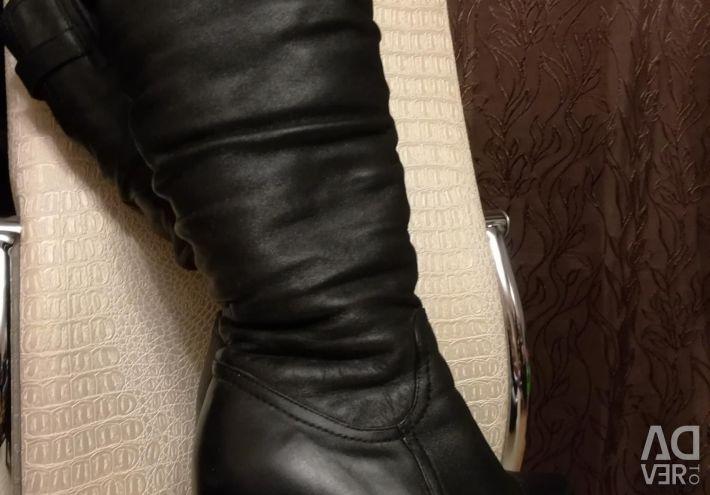 Kışlık botlar, hakiki deri ve kürk